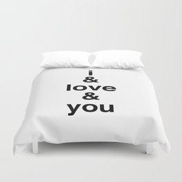 i & love & you Avett Brothers Duvet Cover