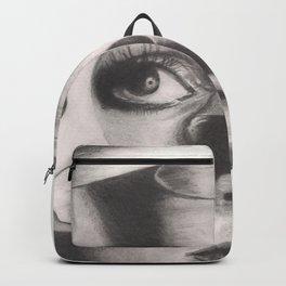 twiggy in mask... Backpack
