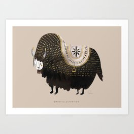 THE LETTER Y for Yak Art Print