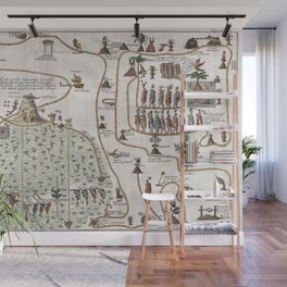 Aztec Collection: Migration from Aztlan to Chapultapec Wall Mural