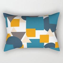 Geometric Mixture Rectangular Pillow