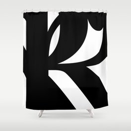 Hidden Letters. Baskerville R Shower Curtain