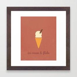 Sweet Tooth - Ice Cream & Flake Framed Art Print