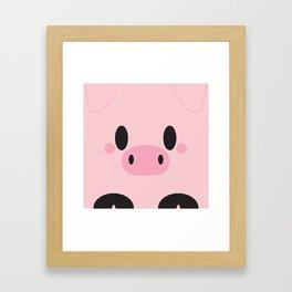 Piggy Block Framed Art Print