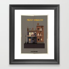 Rear Window   Directed by Alfred Hitchcock Framed Art Print