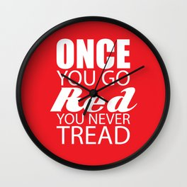 Going Red Wall Clock