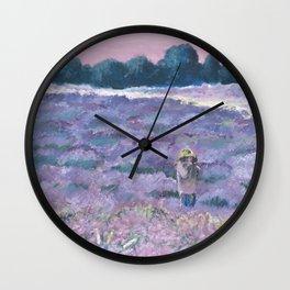 Champ de lavande Wall Clock