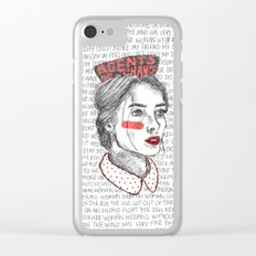 Positive Propaganda Clear iPhone Case