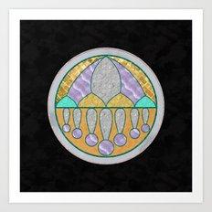 Marbled Medallion Art Print