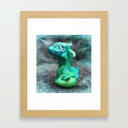 Bitty Water Dragon Framed Art Print
