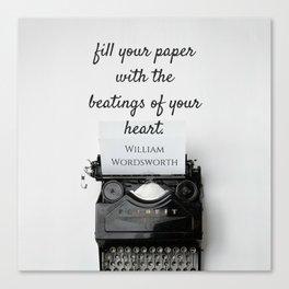 Wordsworth Quote Canvas Print