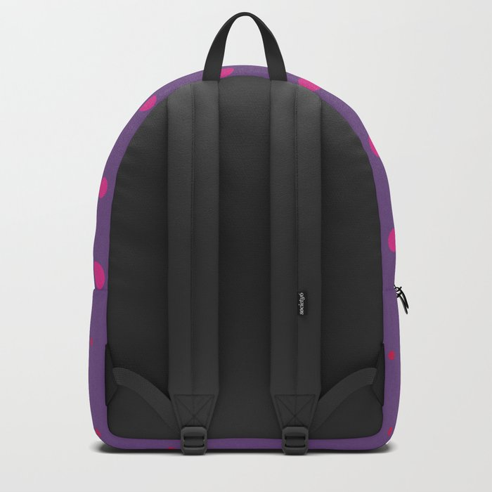 Lilac Purple Pink Dots Pattern Backpack