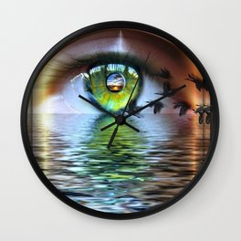 The Eye of the Beholder Wall Clock