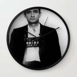 Johnny Cash Mug Shot Vertical Wall Clock