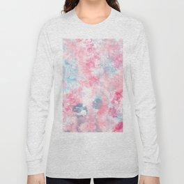 Modern Christmas pastel pink ice blue watercolor  brushstrokes Long Sleeve T-shirt