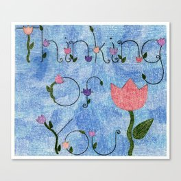 Thinking of You Canvas Print