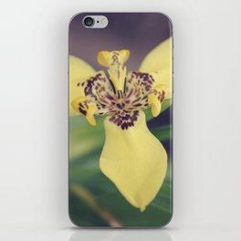 Yellow Iris with Brown Spots iPhone Skin