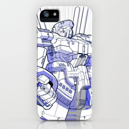 Blue Mecha iPhone Case