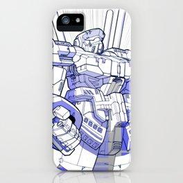 Blue Mecha iPhone Case
