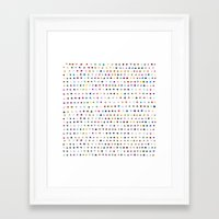 dots Framed Art Prints featuring Dots by Farnell