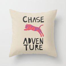 Chase Adventure, nursery art, children's art Throw Pillow