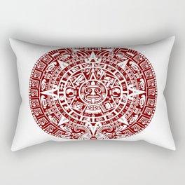 Mayan Calendar // Burgundy Rectangular Pillow