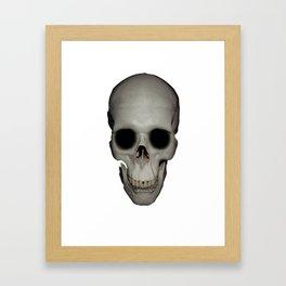 Human Skull Vector Isolated Framed Art Print