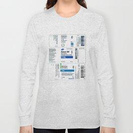 Drug Labels Long Sleeve T-shirt