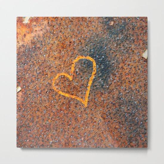 Rusted Heart Metal Print