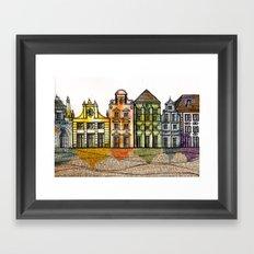 Renkli Kent Framed Art Print