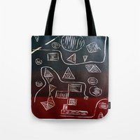 triforce Tote Bags featuring Triforce by Lewis Lawton