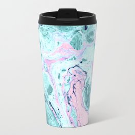 Colorful marbled paper Travel Mug