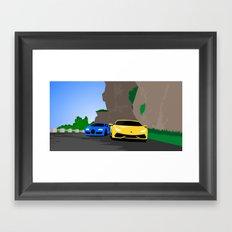 Lamborghini & Bugatti Framed Art Print