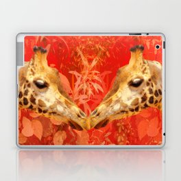Face to face - beautiful giraffes - love is in the air Laptop & iPad Skin