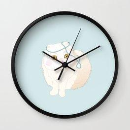 White Cat Wall Clock