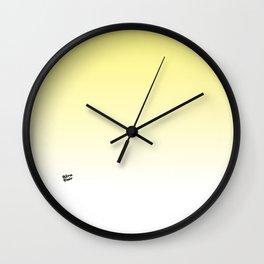 Yellow Ombre #minimal #design #kirovair #buyart Wall Clock