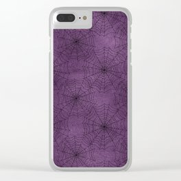 Cobweb Pattern Clear iPhone Case