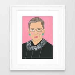 Ruth Bader Ginsberg Framed Art Print