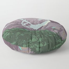 Yoho National Park Poster Floor Pillow