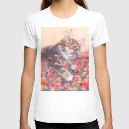 Kitten's Bed of Roses T-shirt