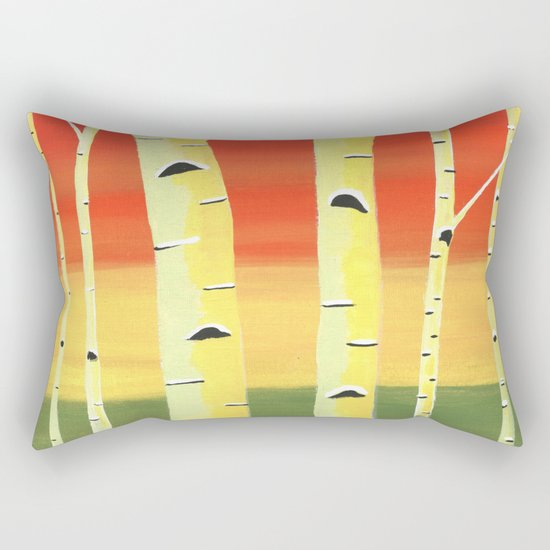 Birch Woods Rectangular Pillow