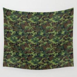 U.S. Woodland Camo Wall Tapestry