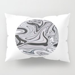 Minimal | Black & White Marble Pillow Sham