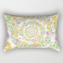 Floral Hypnosis Rectangular Pillow