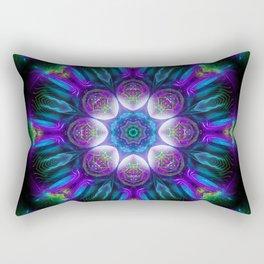 Neons Mandala - Fractal - Psychedelic - Manafold Art Rectangular Pillow