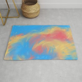Wave of fire Rug