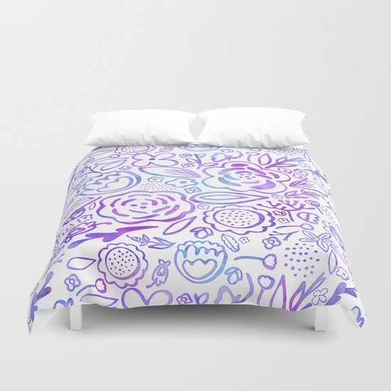 A Profusion of Flowers Duvet Cover