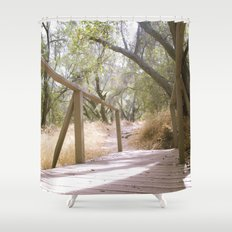 Small Bridge In The Woods Shower Curtain