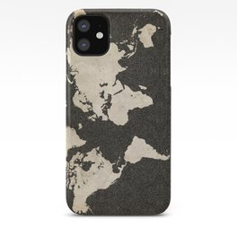 World Map - Ink lines iPhone Case