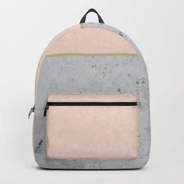 Soft Peach Meets Light Gray Concrete #1 #decor #art #society6 Backpack